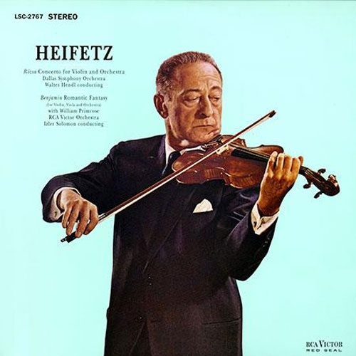 Heifetz New Symphony Orchestra Of London Sir Malcolm Sargent Vieuxtemps Bruch Scottish Fantasy Conce